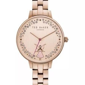 NIB Ted Baker 36mm Womens Kate Rose Gold Watch